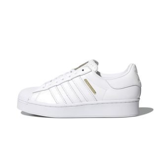 Zapatilla Adidas Superstar Bold Cloud White Gold Metallic Core Black