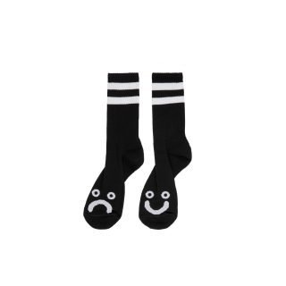 Calcetines Polar Skate Co Happy Sad Socks Black