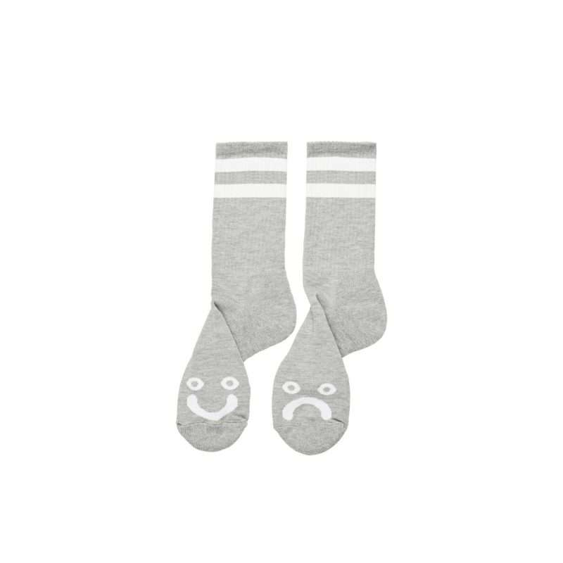 Calcetines Polar Skate Co Happy Sad Socks Sport Grey