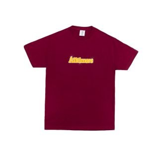 Camiseta Cuello Redondo Alltimers Barbay Broadway Logo Tee Burgundy