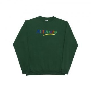 Sudadera Alltimers Embroidered State Crew Green