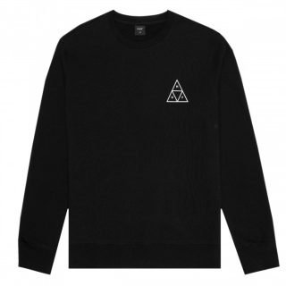 Sudadera Huf Essentials TT Crew Sweatshirt Black