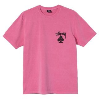 Tee Shirt Stussy Pigment Dyed Tee Pink