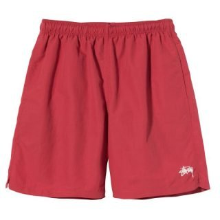 Bermuda Stussy Stock Water Short Red
