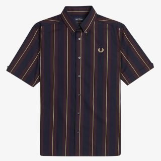 Camisa Fred Perry Stripe Short Sleeve Shirt Navy