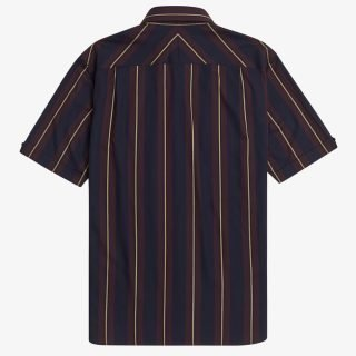 Shirt S/S Fred Perry Stripe Short Sleeve Shirt Navy
