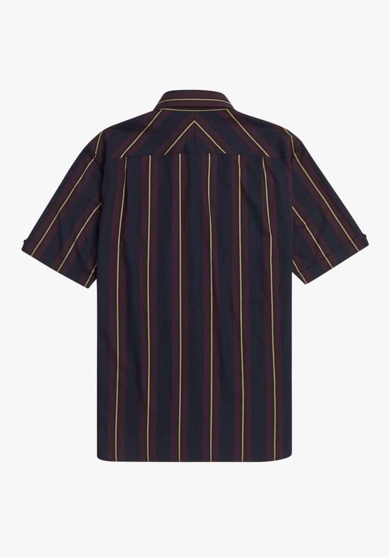 Shirt S/S Fred Perry Stripe Navy