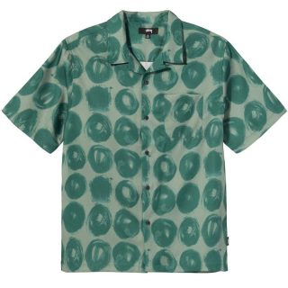 Camisa Stussy Hand Drawn Dot Shirt Green