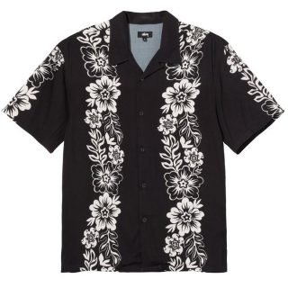Camisa Stussy Hawaiian Pattern Shirt Black