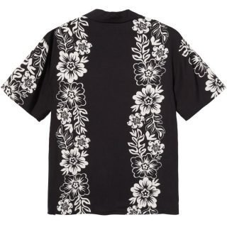 Boxy Shirt Stussy Hawaiian Pattern Shirt Black