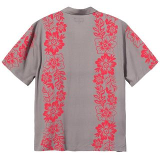 Camisa Stussy Hawaiian Pattern Shirt Grey