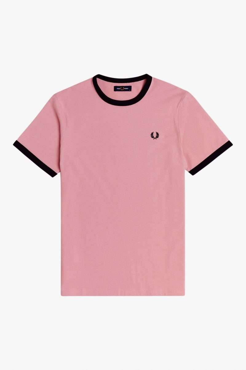 Camiseta Fred Perry Ringer T-Shirt Chalky Pink
