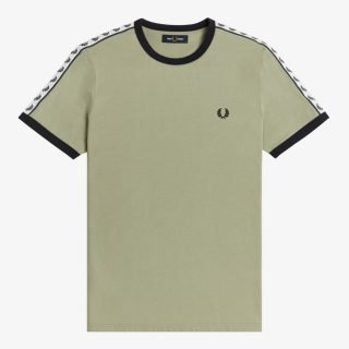 Camiseta Fred Perry Taped Ringer T-Shirt Seagrass