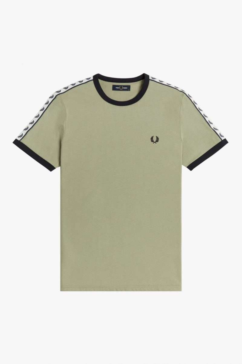 Tee Shirt Fred Perry Taped Ringer T-Shirt Seagrass
