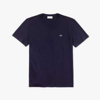 Camiseta Lacoste Crew Neck Pima Cotton Jersey T-Shirt Navy Blue