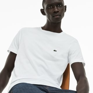 Tee Lacoste Crew Neck Pima Cotton Jersey T-Shirt White