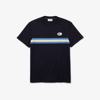 T-Shirt Lacoste Men's Heritage Stripe Band and Badge Cotton T-shirt