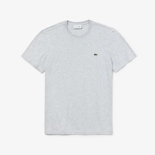 Camiseta Lacoste Neck Pima Cotton Jersey T-Shirt Grey Chine