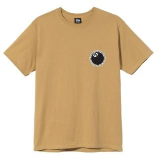 T-Shirt Stussy 8 Ball Dot Tee Khaki