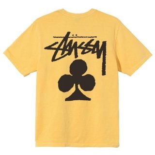 Camiseta Stussy Club Pigment Dyed Tee Yellow