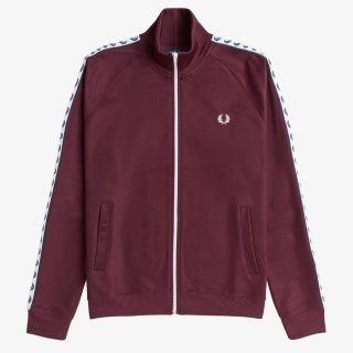 Chaqueta Fred Perry Taped Track Jacket Burdeos