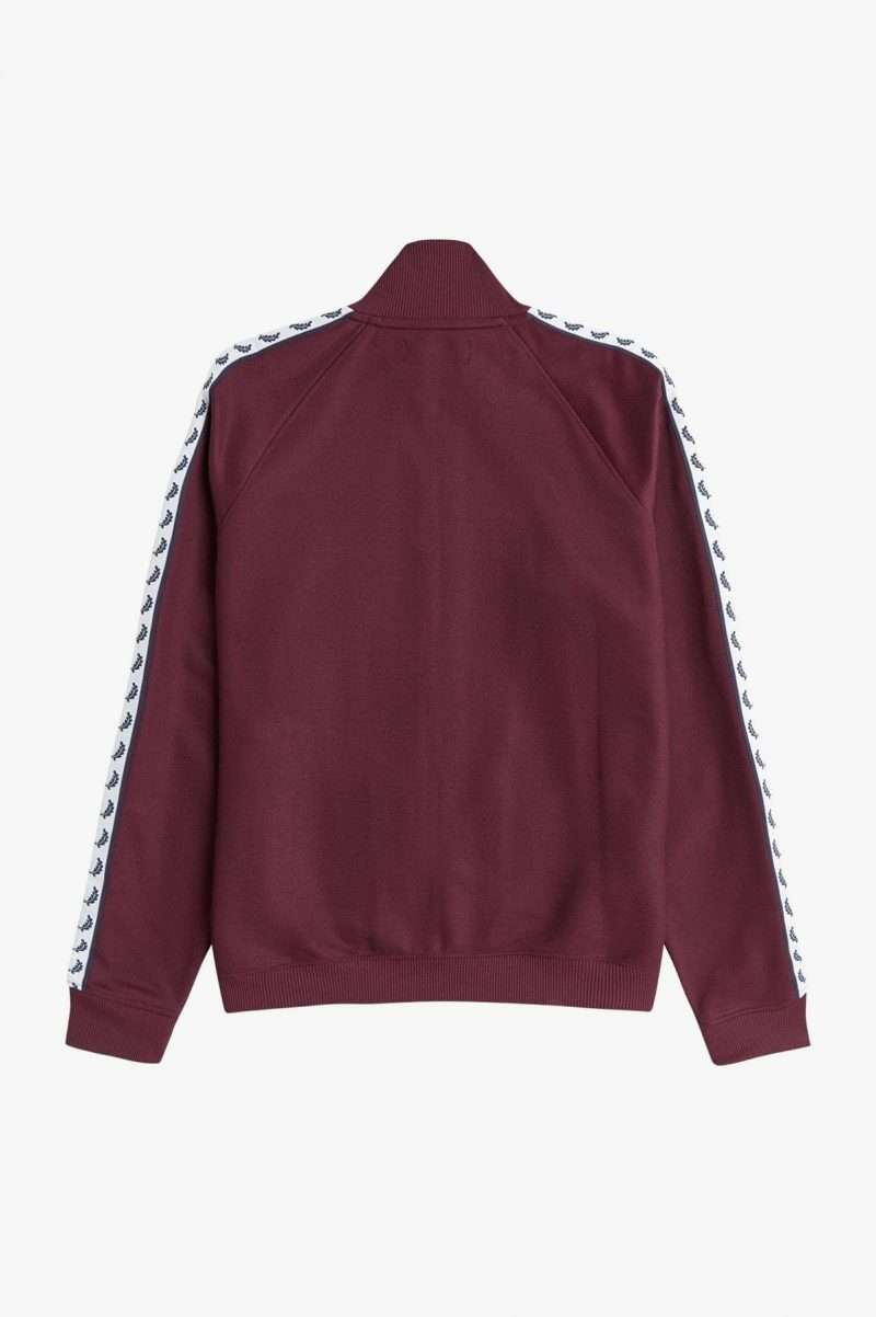 Jacket Fred Perry Taped Track Jacket Burdeos
