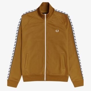 Chaqueta Fred Perry Taped Track Jacket Dark Camel J6231 644