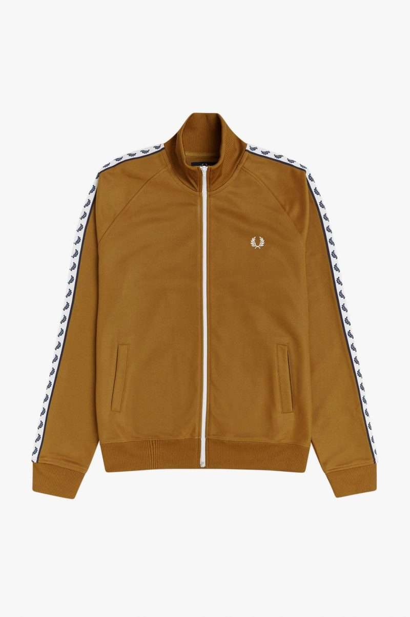 Jacket Fred Perry Taped Track Jacket Dark Camel J6231 644