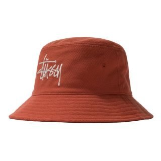 Gorro Stussy Big Logo Twill Bucket Hat Orange