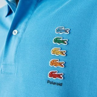 Polo Lacoste X Polaroid Coloured Crocodiles Blue PH2081