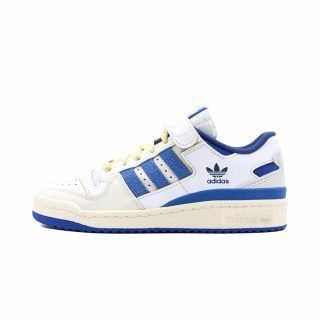 Zapatilla Adidas Forum 84 Low Blue Thread Shoes Cloud White Royal Blue Cream White