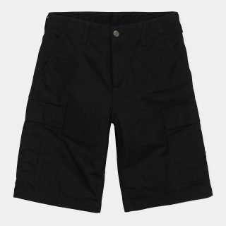 Bermuda Carhartt WIP Regular Cargo Short Black Rinsed