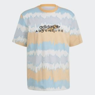 Camiseta Adidas Adventure Archive Printed Hazy Orange Multicolor