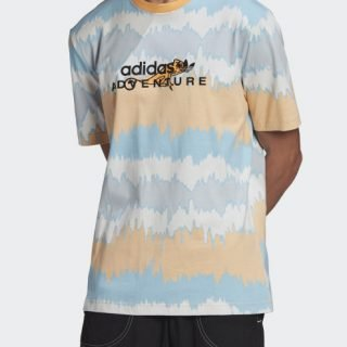 Tee Adidas Adventure Archive Printed Hazy Orange Multicolor