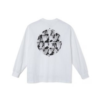 Camiseta Polar Skate Co Sequence Fill Logo Long Sleeve Tee White