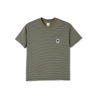 Camiseta Polar Skate Co. Stripe Pocket Tee Army Green