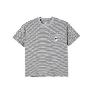 Camiseta Polar Stripe Pocket Tee Grey