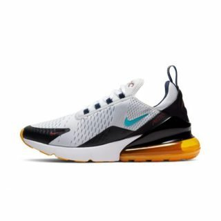 Zapatilla Nike Air Max 270 Pure Platinum Oracle Aqua Black Team Red