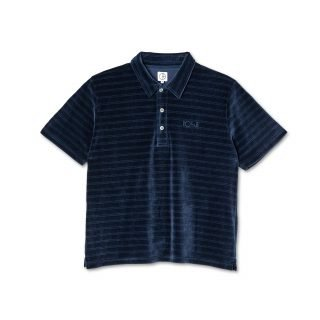 Polo Polar Skate Co. Stripe Velour Polo Shirt Navy