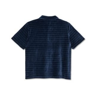 Polo Polar Skate Co. Stripe Velour Navy