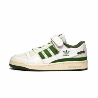 Zapatilla Adidas Forum 84 Low Cloud White Crew Green Wild Pine