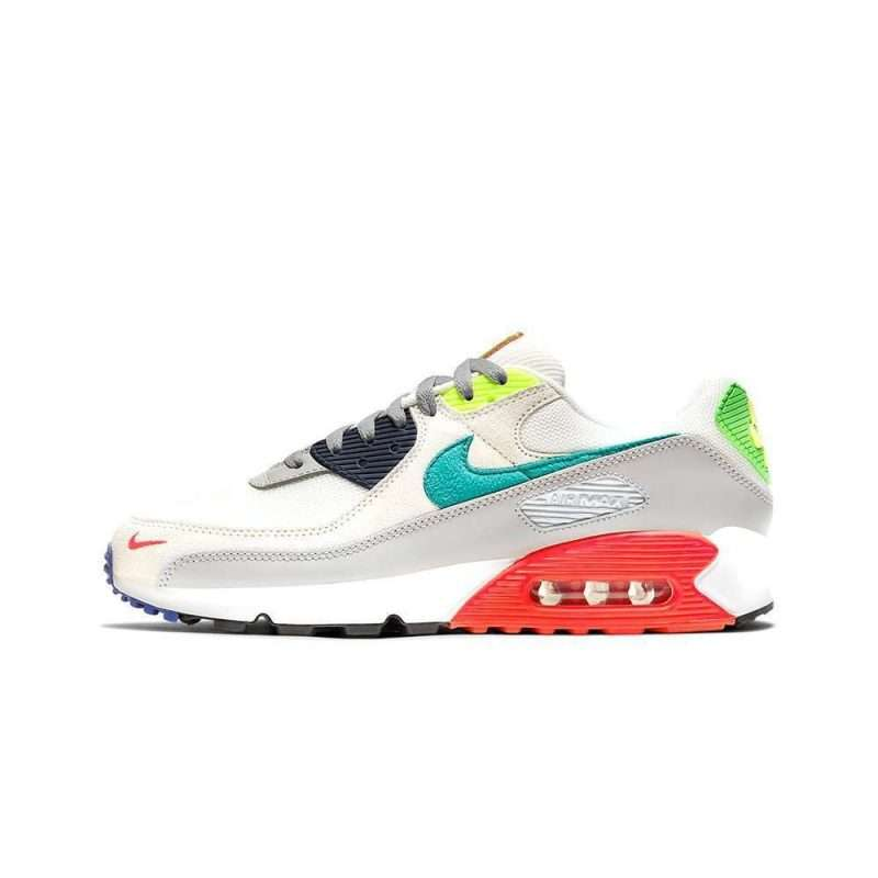 Zapatilla Nike Air Max 90 SE Pearl Grey Sport Turq Summit White Black
