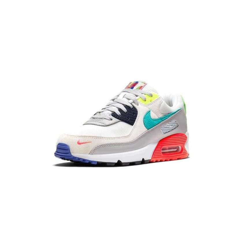 Sneaker Nike Air Max 90 SE Pearl Grey Sport Turq Summit White Black
