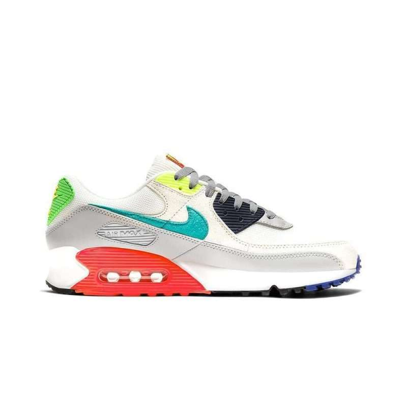 Bamba Nike Air Max 90 SE Pearl Grey Sport Turq Summit White Black