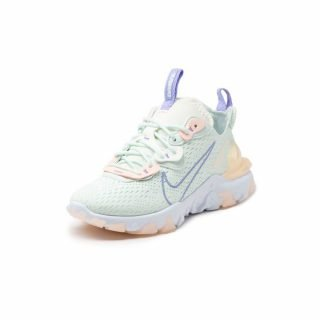 Sneaker Nike React Vision Barely Green Purple Pulse Crimson Tint