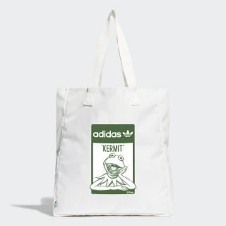 Bolso Adidas Kermit Shopper Core White Green