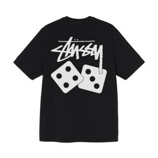 T-Shirt Stussy Dice Pigment Dyed Tee Black