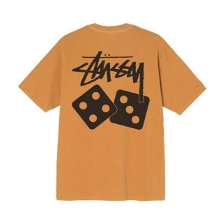 Tee Shirt Stussy Dice Pigment Dyed Tee Copper