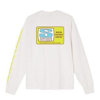 Tee Shirt Stussy Equipment Company Pigment Dyed LS Natural