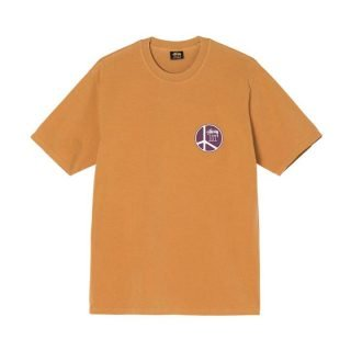 T-Shirt Stussy Peace Dot Pigment Dyed Tee Cooper
